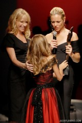 Elizabeth Mason, and Paloma Prudhomme present Actress Maria Bello with The Spirit Award For Style And Substance, October 15 2009