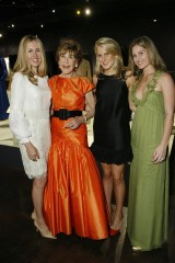 From Left to right, Berry Bloomingdale, Betsy Bloomingdale, Hayley Bloomingdale, Jane Bloomingdale-Cisnerosdale