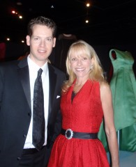 Kevin Jones, Director and Curator of the museum at FIDM with Elizabeth Mason, opening night gala High Style